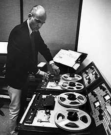 Tod Dockstader in the studio, circa 1965