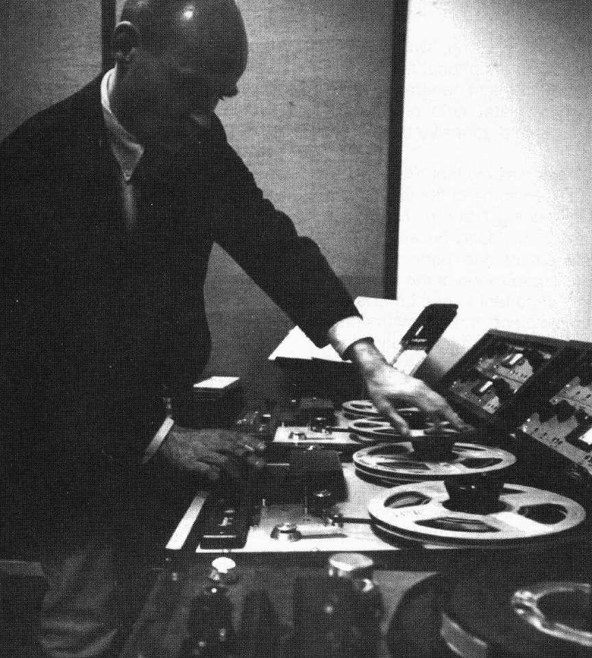 Tod Dockstader in the studio, circa 1965