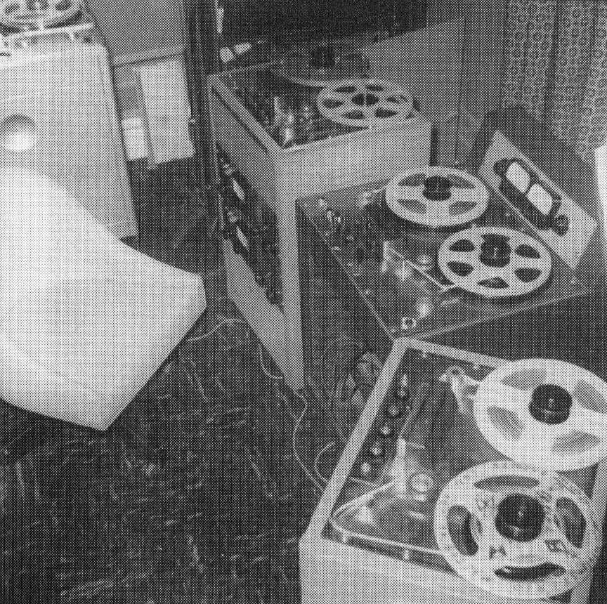 Tod Dockstader's studio, circa 1965
